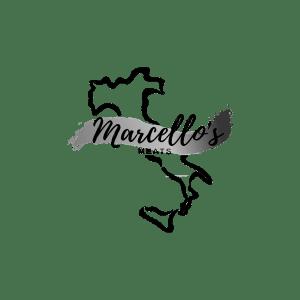 Marcello's Meats Greyscale Logo