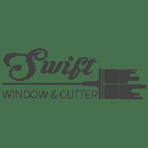 Swift Window & Gutter Greyscale Logo