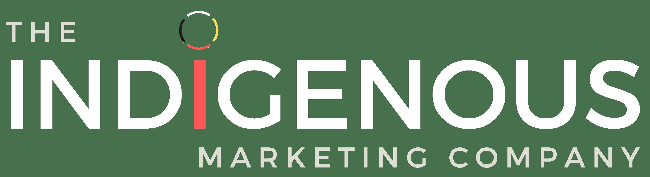 The Indigenous Marketing Company White Text Logo